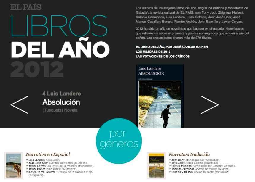 El Pais Los libros 2012