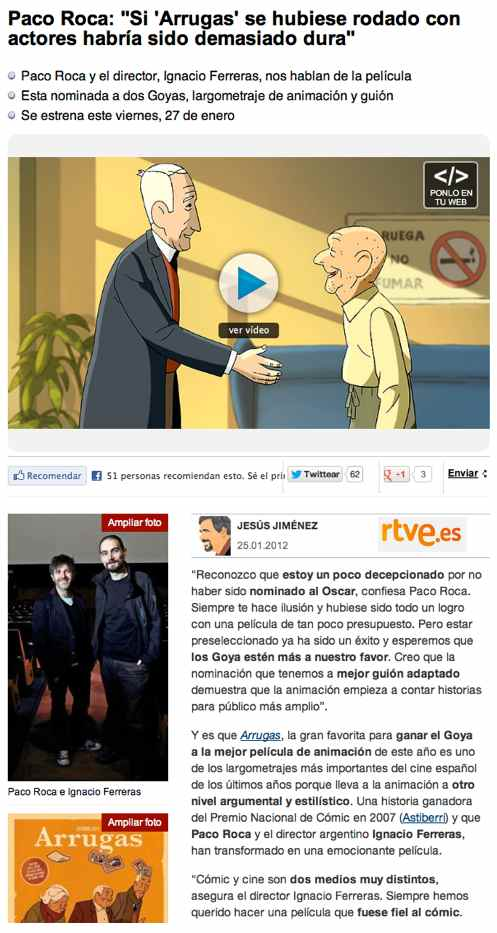 Entrevista a Paco Roca en rtve