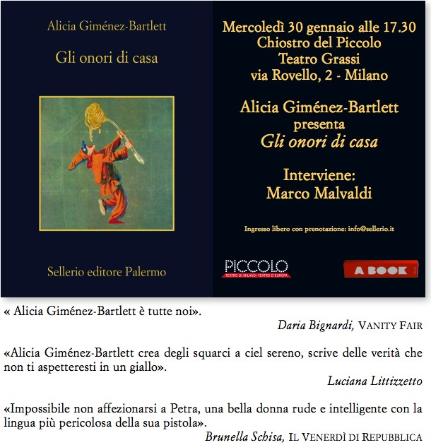 Gli onori di casa Alicia Gímenez-Bartlett