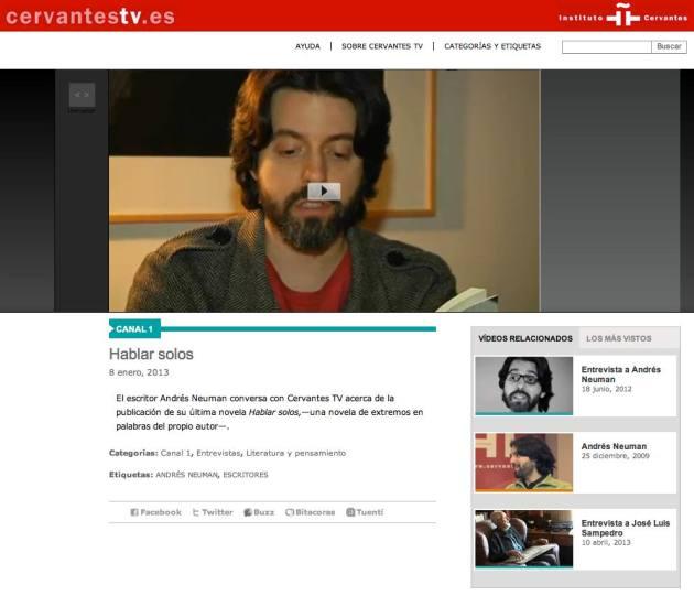 Andres Neuman Cervantes TV