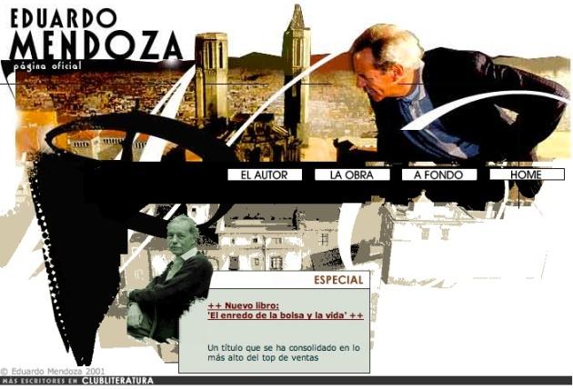 Eduardo Mendoza pagina oficial