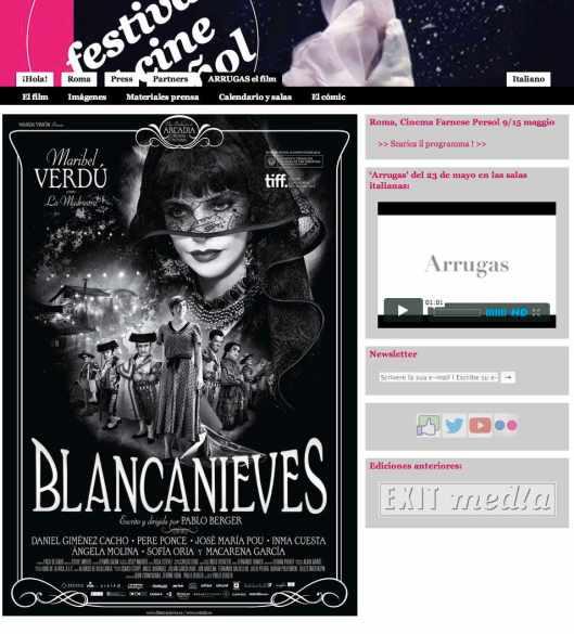 Festival del cine Español en Roma