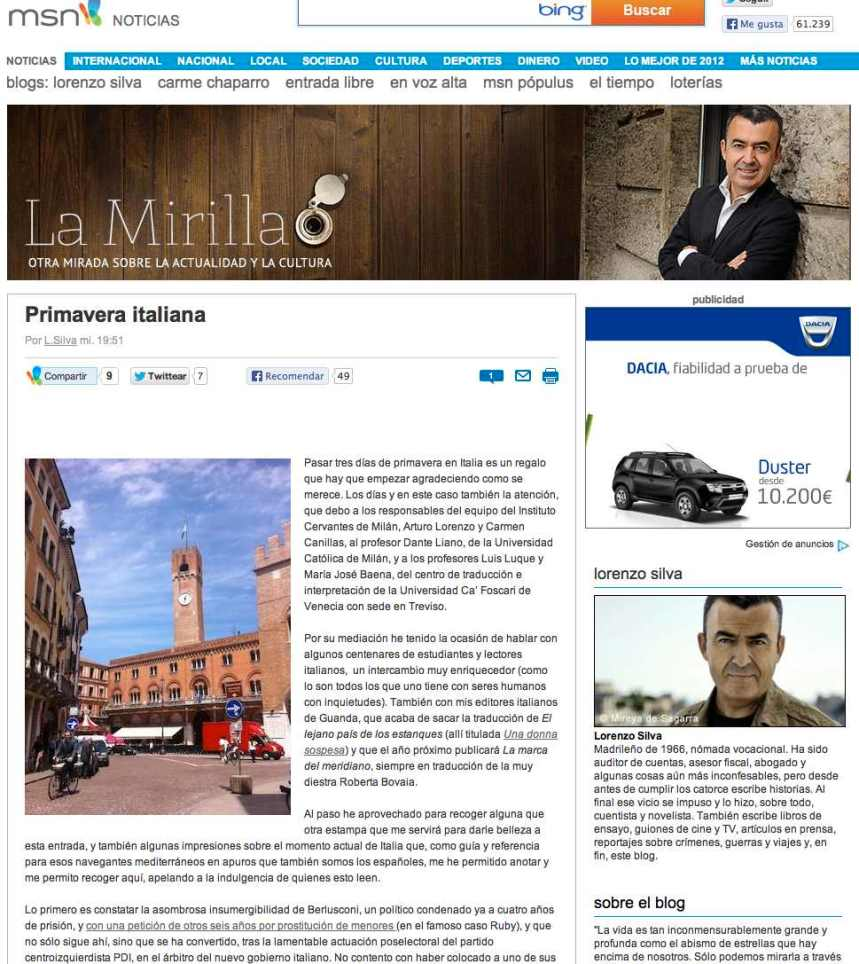 Lorenzo Silva blog msn