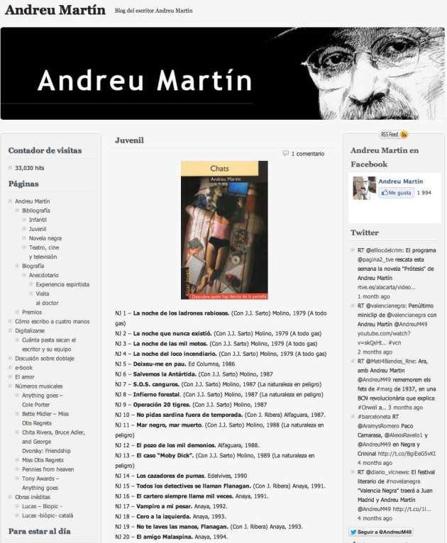 Andreu Martin paginas web blog