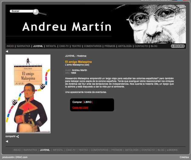 Andreu Martin paginas web