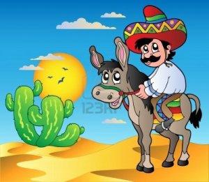 9864301-caballo-mexicano-burro-en-desierto
