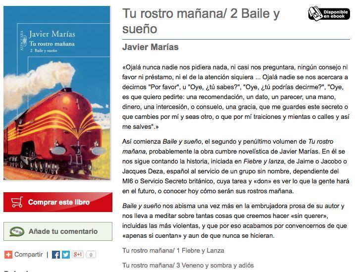 Baile y sueño Javier Marías