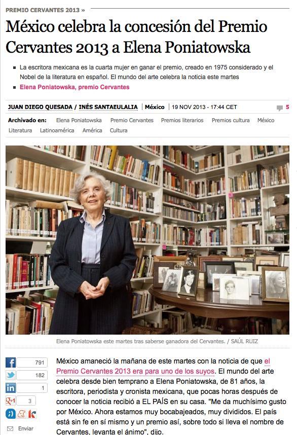Elena Poniatowska El Pais