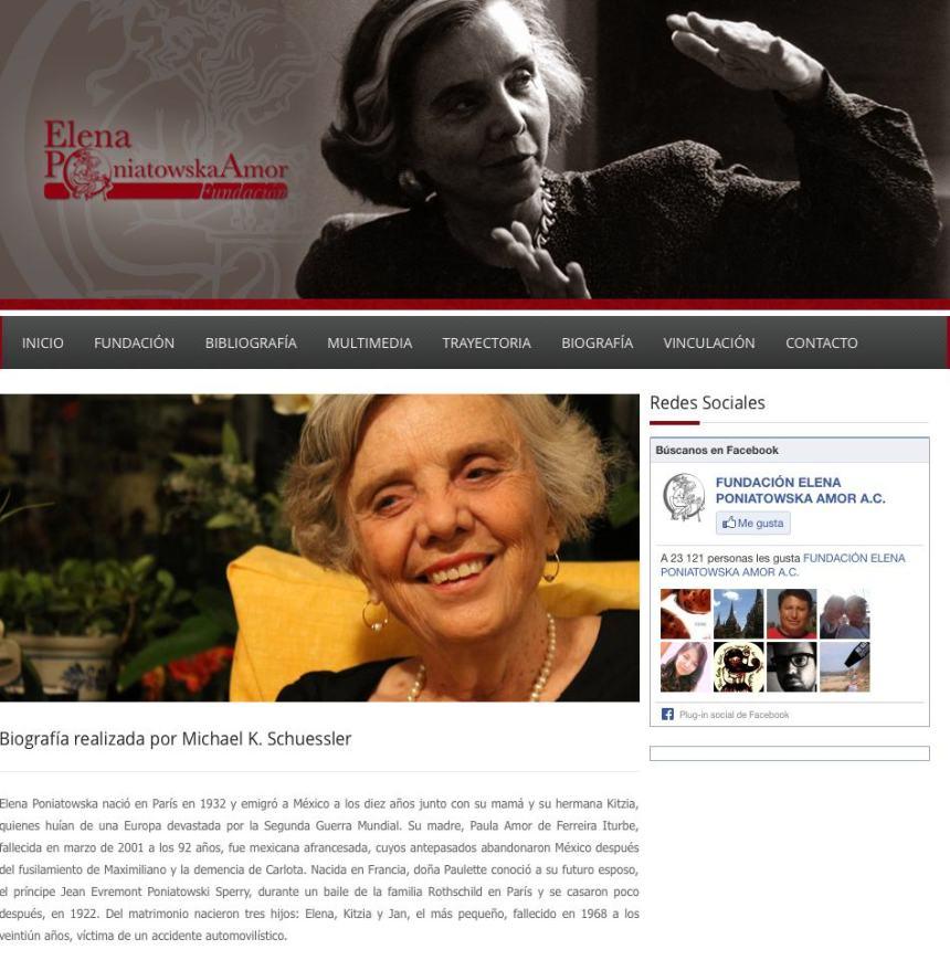 Elena Poniatowska Fundación