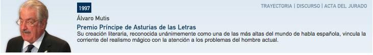 Premio Principe de Asturias Mutis