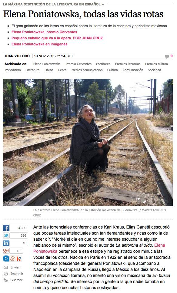 Elena Poniatowska, todas las vidas rotas