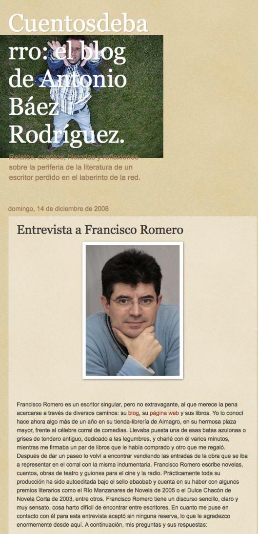 Entrevista a Francisco Romero