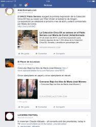 Noticias de Facebook en el ordenador