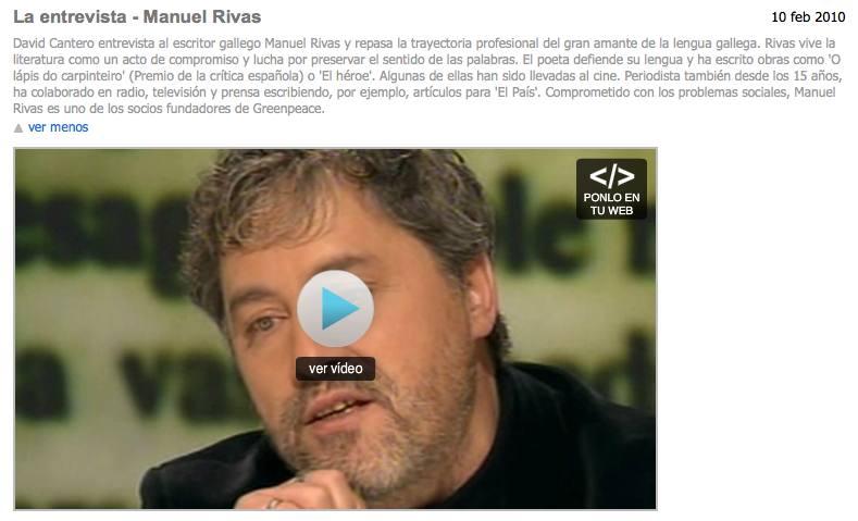 La entrevista - Manuel Rivas