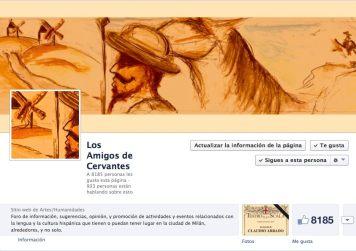 Pagina Facebook de LOS AMIGOS DE CERVANTES