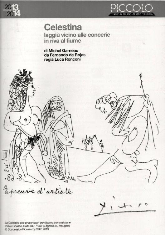 La Celestina- Dirección Ronconi - Cartel de Picasso 1