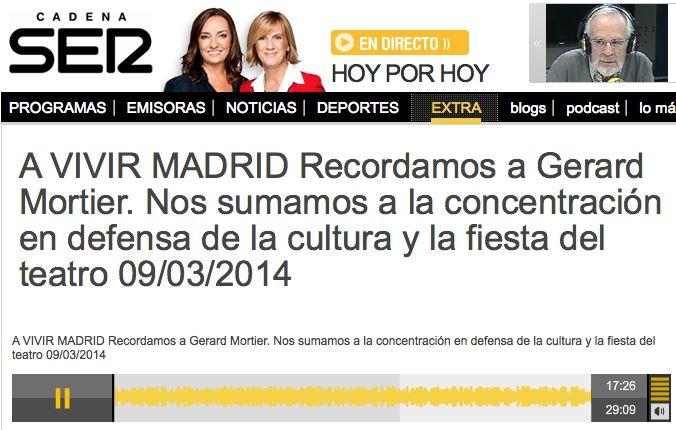 Cadena Ser Concentracióln en difesa de la cultura 9:3:2014