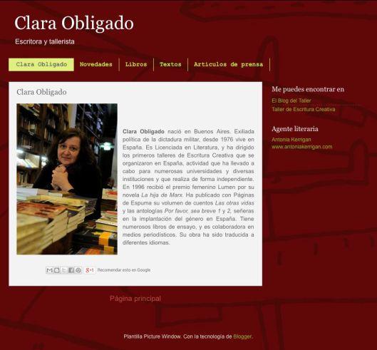 Clara Obligado blog