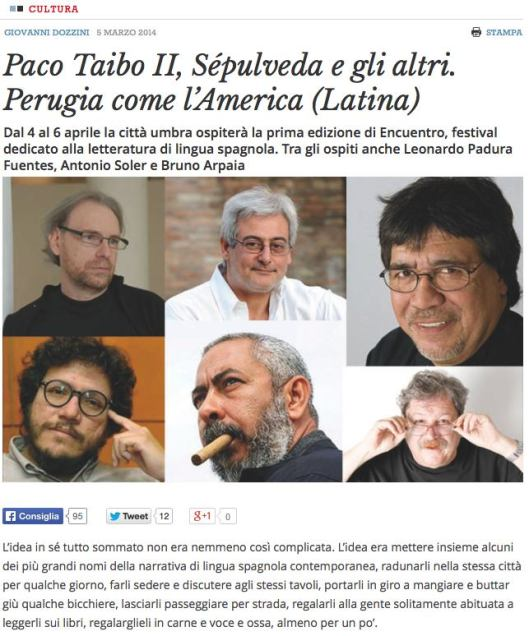 Narrativa española en Perugia