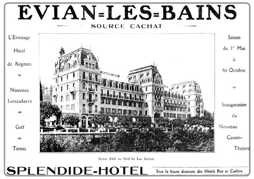 SPLENDIDE HOTEL cartel