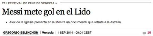 Messi El Pais titulo