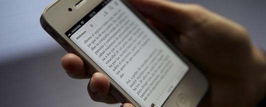 Leo libros con mi smartphone