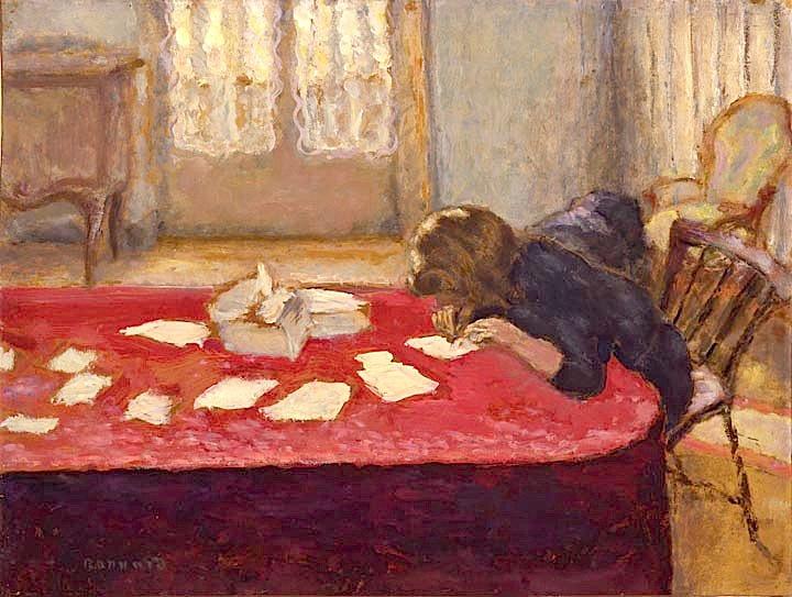 Jeune Femme Écrivant, 1908, Pierre Bonnard, 1867 - 1947