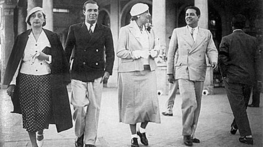 Bioy Casares e Jorge Luis Borges com Josefina Dorado e Victoria Ocampo em 1935