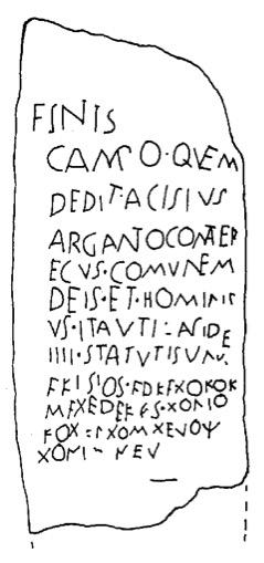 estela bilingüe de Vercelli