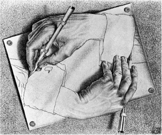 Manos que dibujan, M.C. Escher