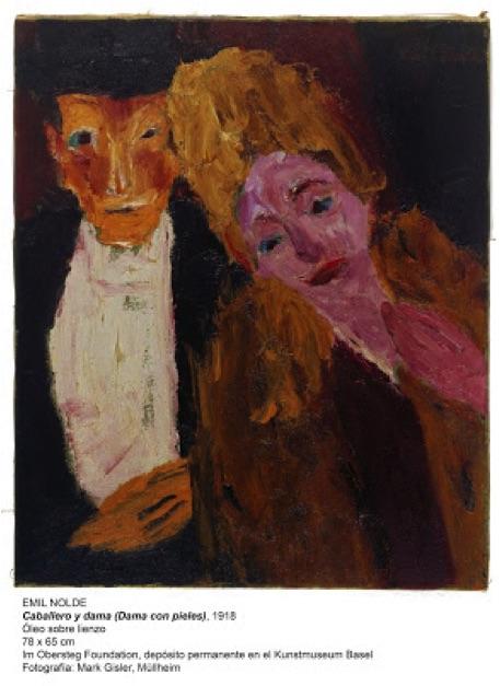 Emil Nolde Dama con pieles (1918)