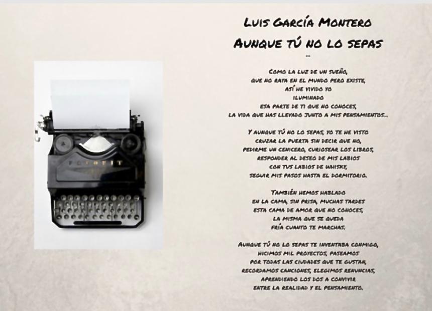 Aunque tú no lo sepas - Luis García Montero
