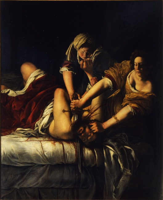 Judith decapitando a Holofernes (1613, 1620) Artemisa Gentileschi (1593-1653)